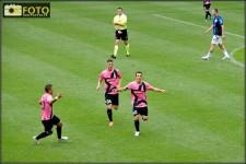Del Piero festeggia l'ultimo gol con la maglia della Juve