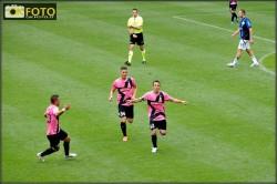 Del Piero festeggia il suo ultimo gol con la Juve