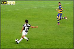 Pirlo, autore del 2-0 in Juventus Parma agosto 2012