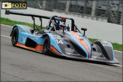 L'esultanza di Visconti al traguardo della gara di Monza che lo ha laureato campione