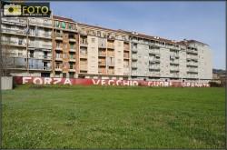 una foto di quel che resta dello Stadio Filadelfia a Torino