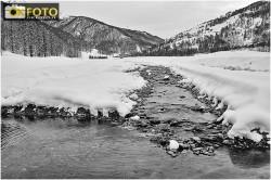 Un'immagine del torrente Chisone a Pragelato, nei pressi della frazione Plan