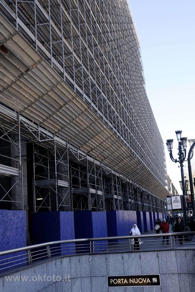 Stazione Torino Porta Nuova, le fotografie del restauro della facciata