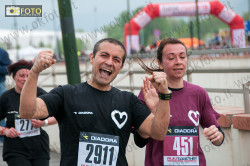 Juventini e granata festanti all'arrivo della Run Together 2013