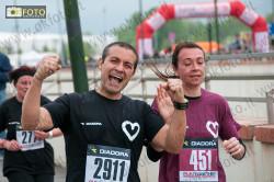 Juventini e granata festanti all'arrivo della Run Together 2013
