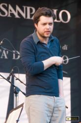 Festival Beethoven: il Direttore prima dell'inizio delle prove generali dell'ultima serata