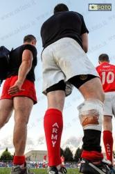 Una singolare immagine della finale del torneo di rugby dei World Masters Games