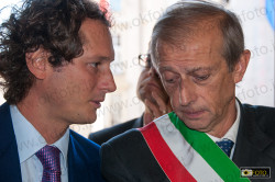 Il sindaco di Torino, Piero Fassino, con John Elkann