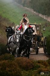 la berlina a 6 cavalli nei giardini della Reggia di Venaria