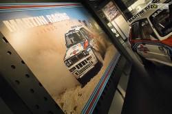 Una Delta Martini esposta al museo dell'auto di Torino