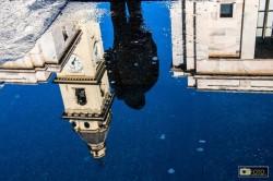 I riflessi delle chiese di piazza San Carlo