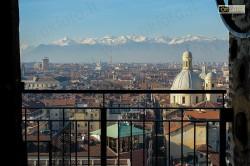 le Alpi viste dalla torre campanaria del Duomo