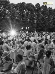Una bella immagine della Cena in Bianco 2013 alla Tesoriera di Torino
