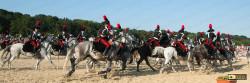 Carabinieri a cavallo  impegnati ne carosello storico