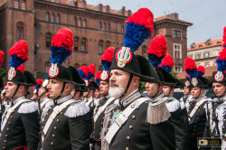 carabinieri in occasione della cerimonia per i 200 anni dell'Arma