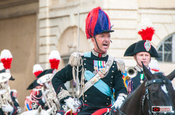 Il comandante del Reggimento a cavallo, ten. col. Gaspare Giardelli