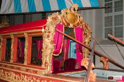 i troni del re e della regina sul Bucintoro