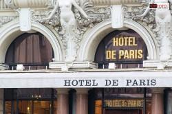 L'insegna dell'Hotel de Paris di Montecarlo