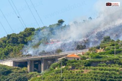 Incendio a Bordighera