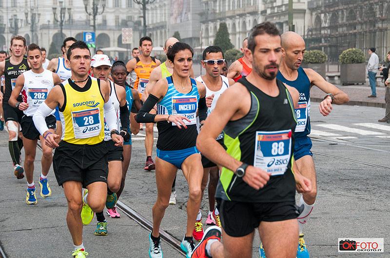 Anna Incerti al via della Turin Marathon 2014
