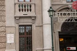 L'ingresso dell'hotel Piazza Carlina