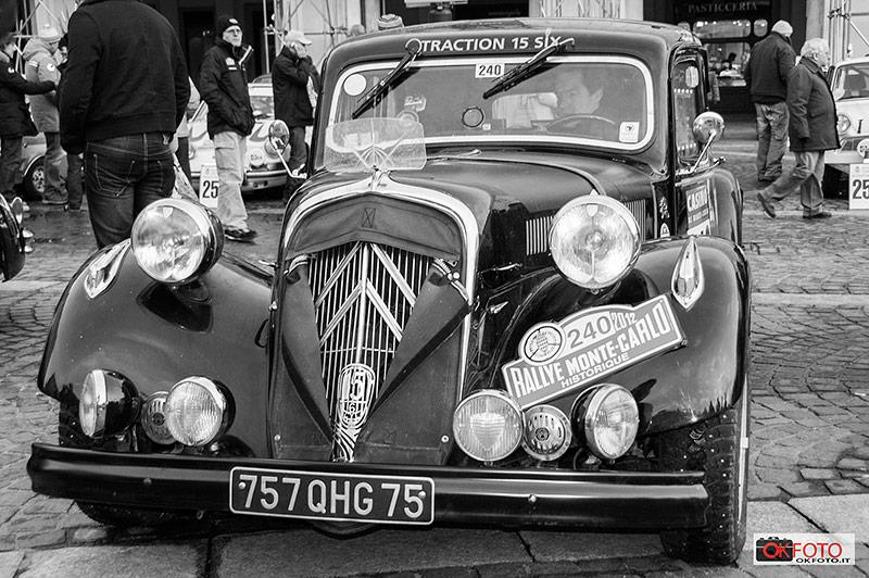 Citroen traction 15 six al rallye storico di Monte Carlo