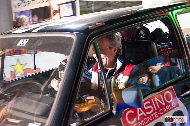 Peter Zanchi- Giovanni Agnese al via del rallye di Monte Carlo