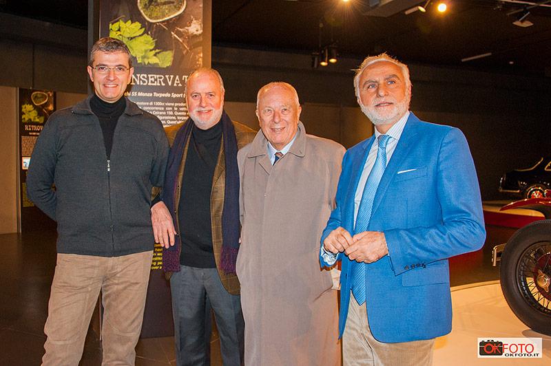 Alberto Dilillo con Corrado Lopresto alla inaugurazione di Retròvisioni