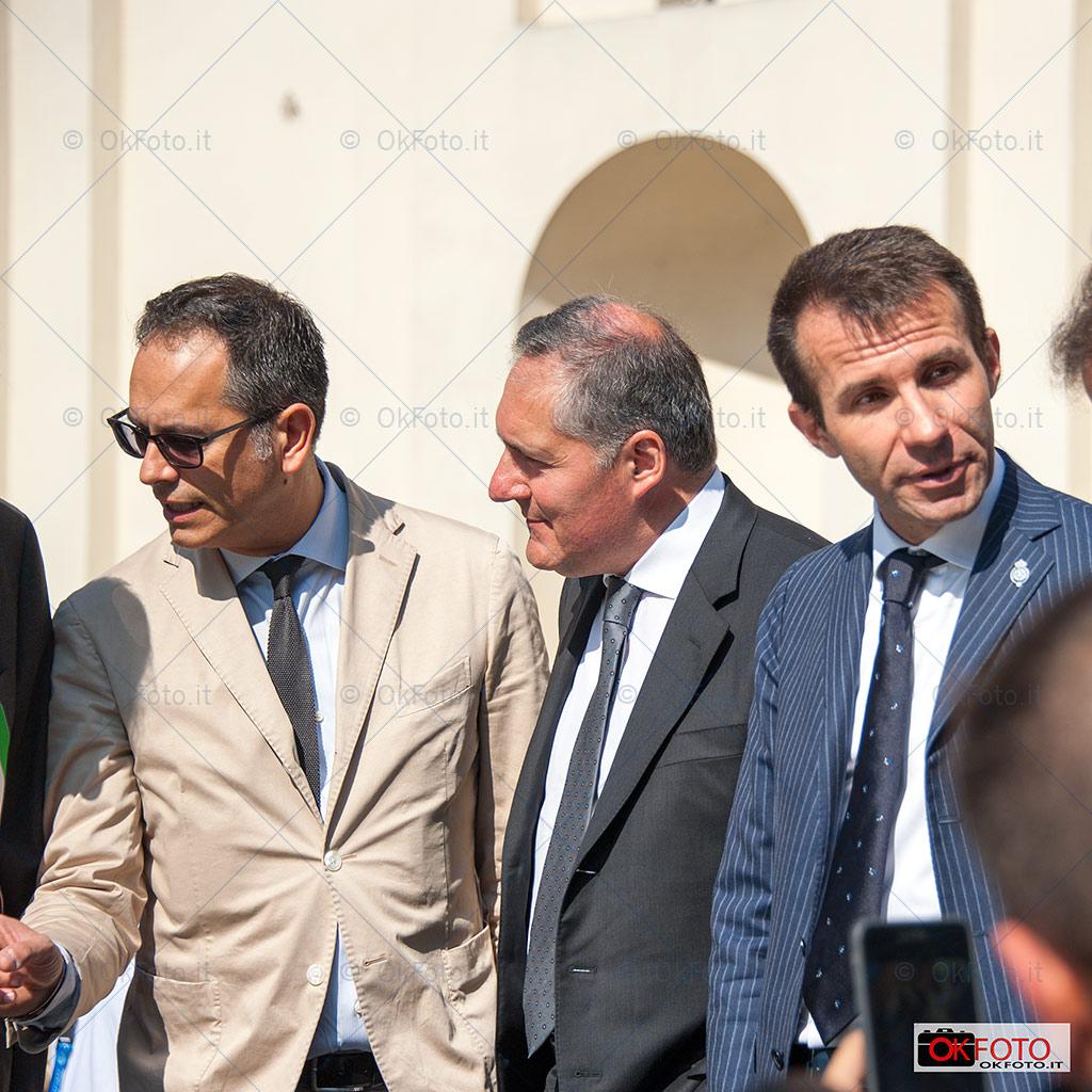 Alfredo Altavilla con Flavio Manzoni e Andrea Levy in visita al Salone Parco Valentino