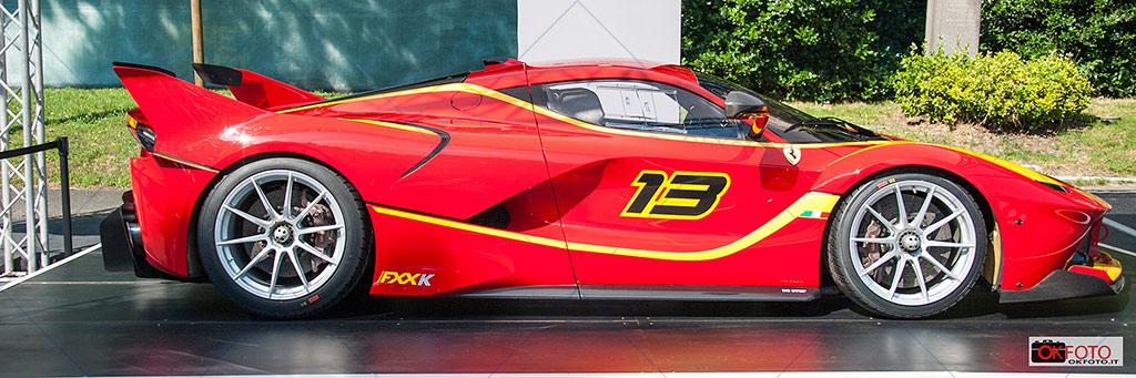 Ferrari FXXK esposta al Salone dell'auto di Torino