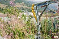 Pragelato, la natura sta riprendendosi i suoi spazi rovinando le attrezzature dell'impianto dei trampolini