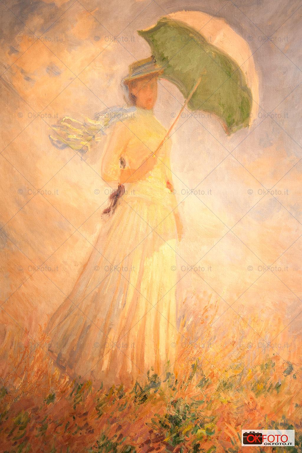 essai de figure en plein-air di Monet esposto alla GAM
