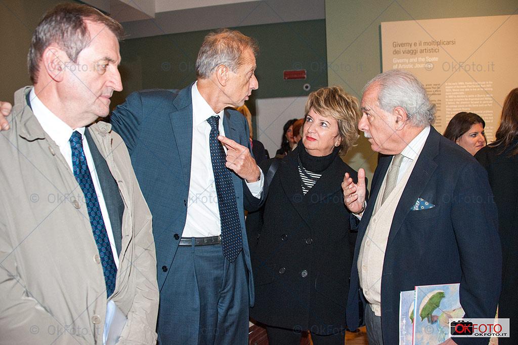 Fassino con il presidente Unipol, Stefanini, e Massimo Vitta Zelman