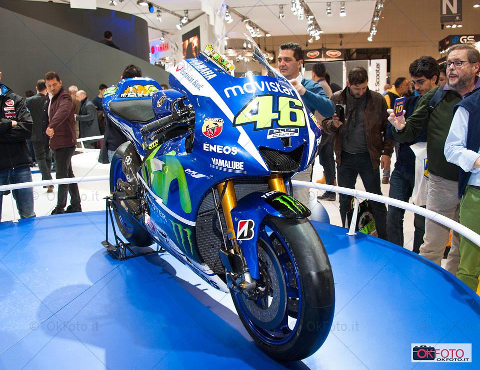 La Yamaha di Valentino Rossi esposta a Eicma 2015