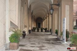 I portici del Caffè reale a Palazzo Reale di Torino