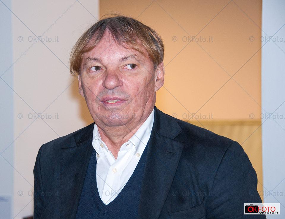 Braco Dimitrijević alla inaugurazione della mostra alla GAM di Torino