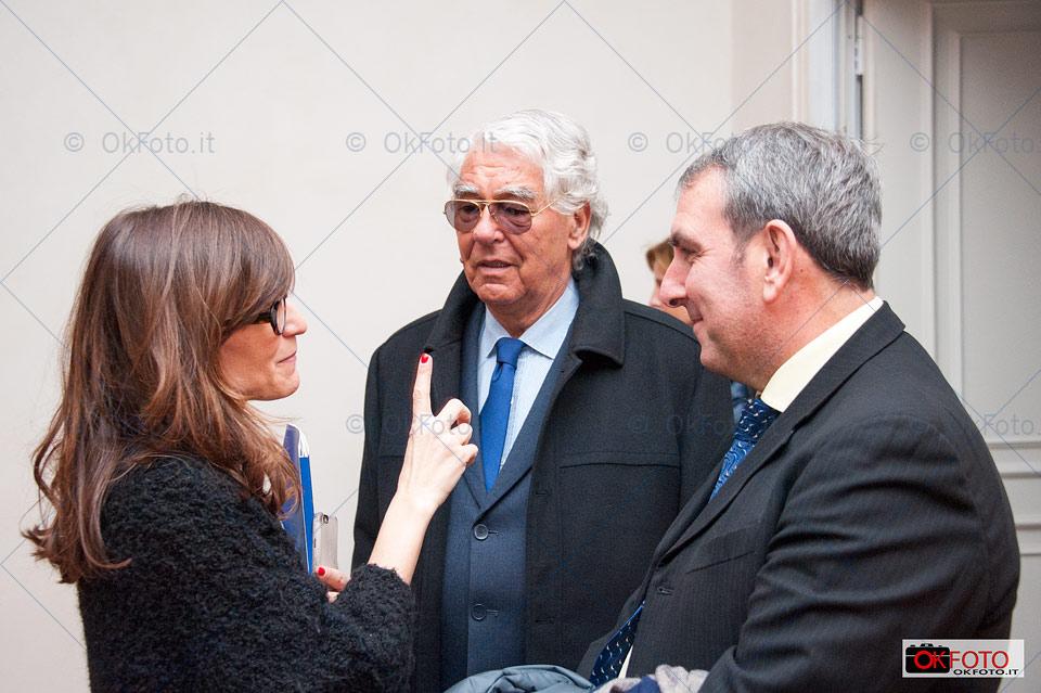 Paola Zini, presidente della Reggia di Venaria, con il sindaco Roberto Falcone