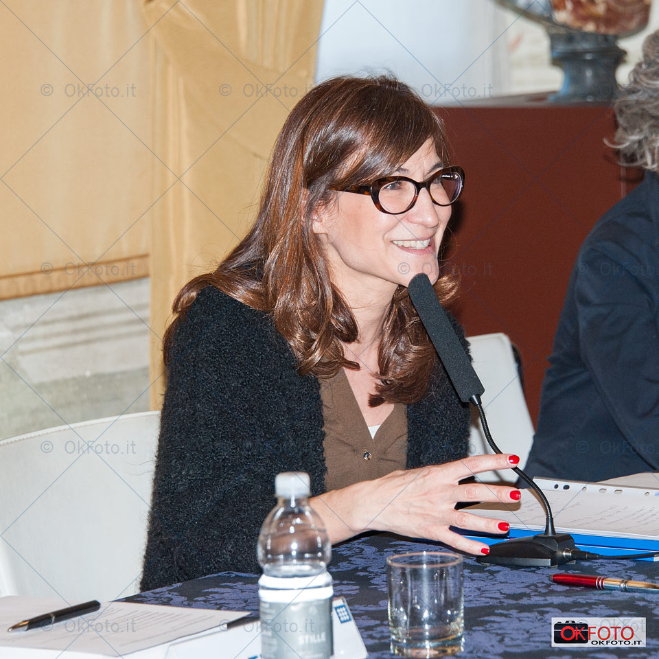 Paola Zini, presidente della Reggia di Venaria alla inaugurazione della mostra Fatto in Italia