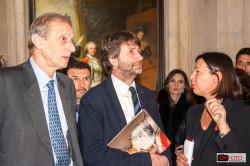 Dario Franceschini alla inaugurazione della mostra a Palazzo Madama