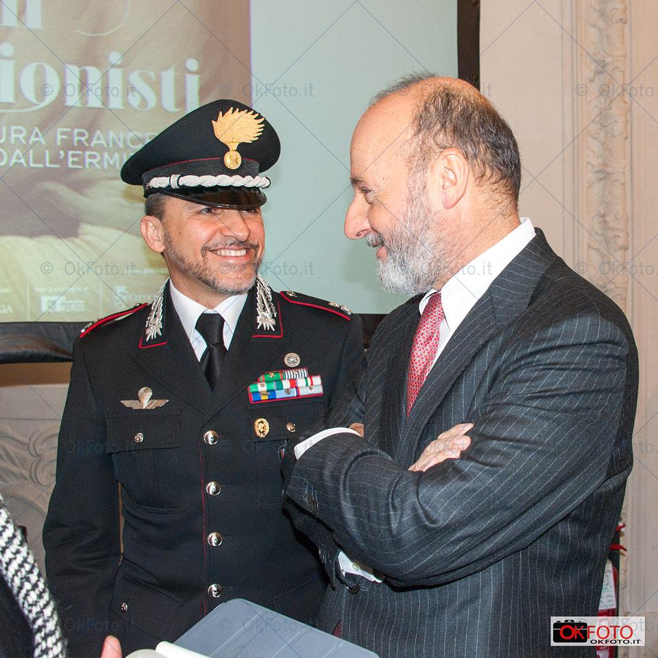 Guido Curto neo direttore di Palazzo Madama con il capitano Barbieri