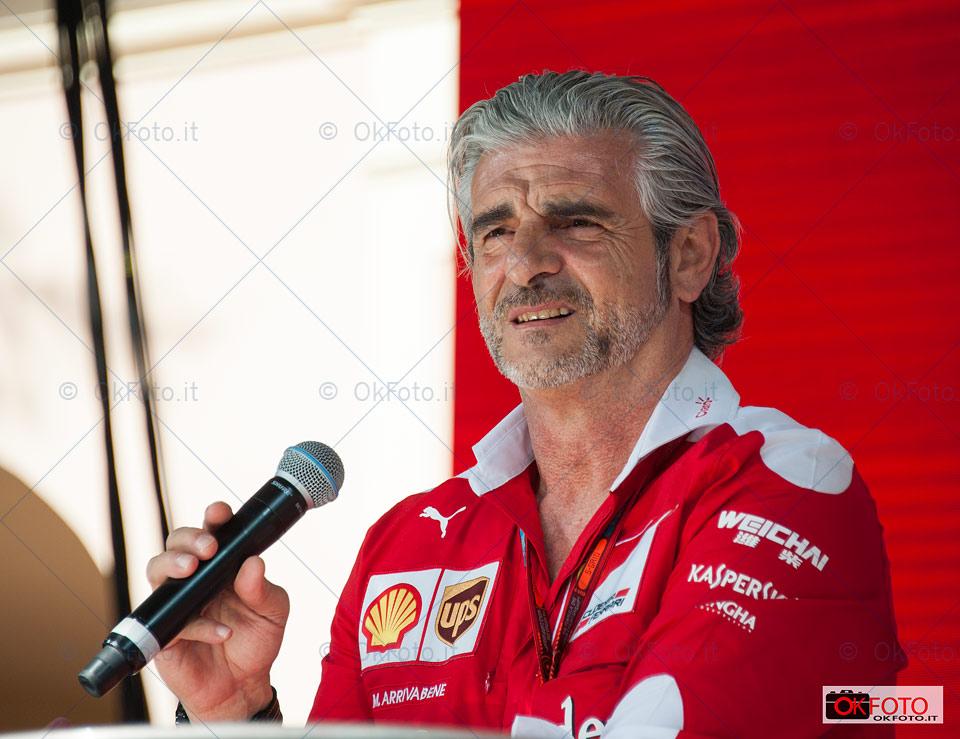Maurizio Arrivabene team principal di Ferrari