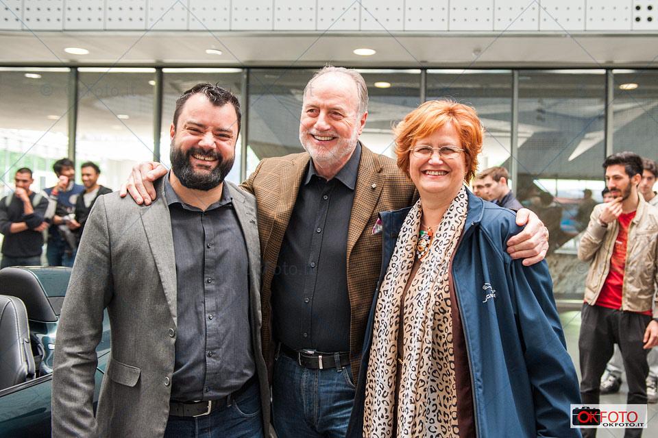 Cesar Pieri con Rita Colomba e il direttore del Mauto