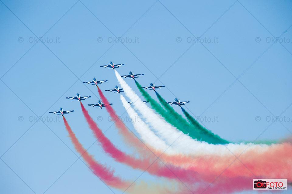 Esibizione delle Frecce Tricolori a Torino