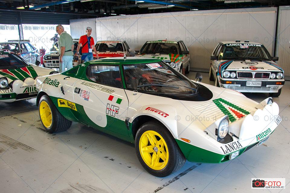 Lancia Stratos nei box dell'autodromo di Monza