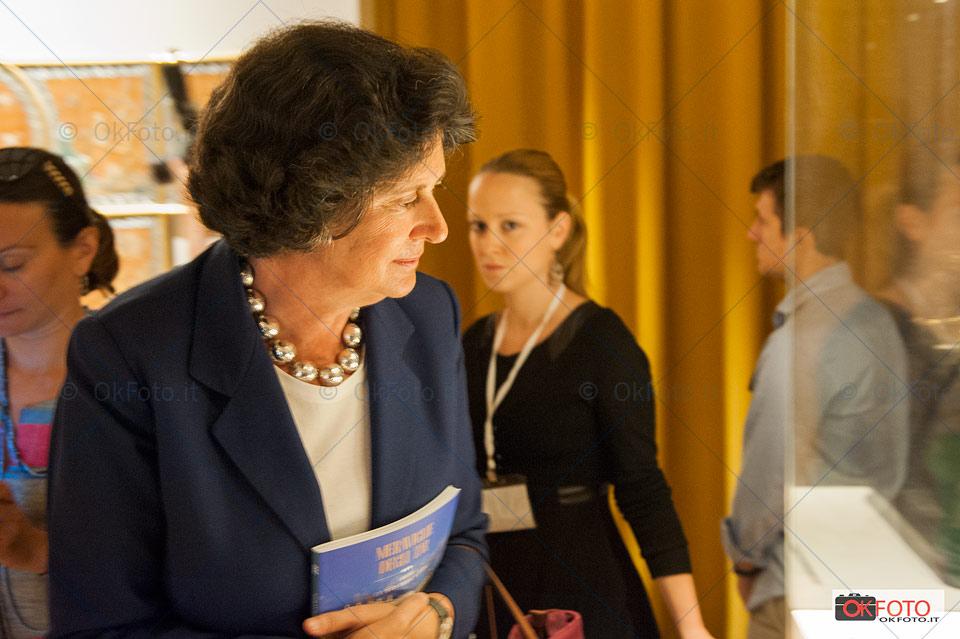 Ilaria Borletti Buitoni alla inaugurazione della mostra alla Reggia di Venaria