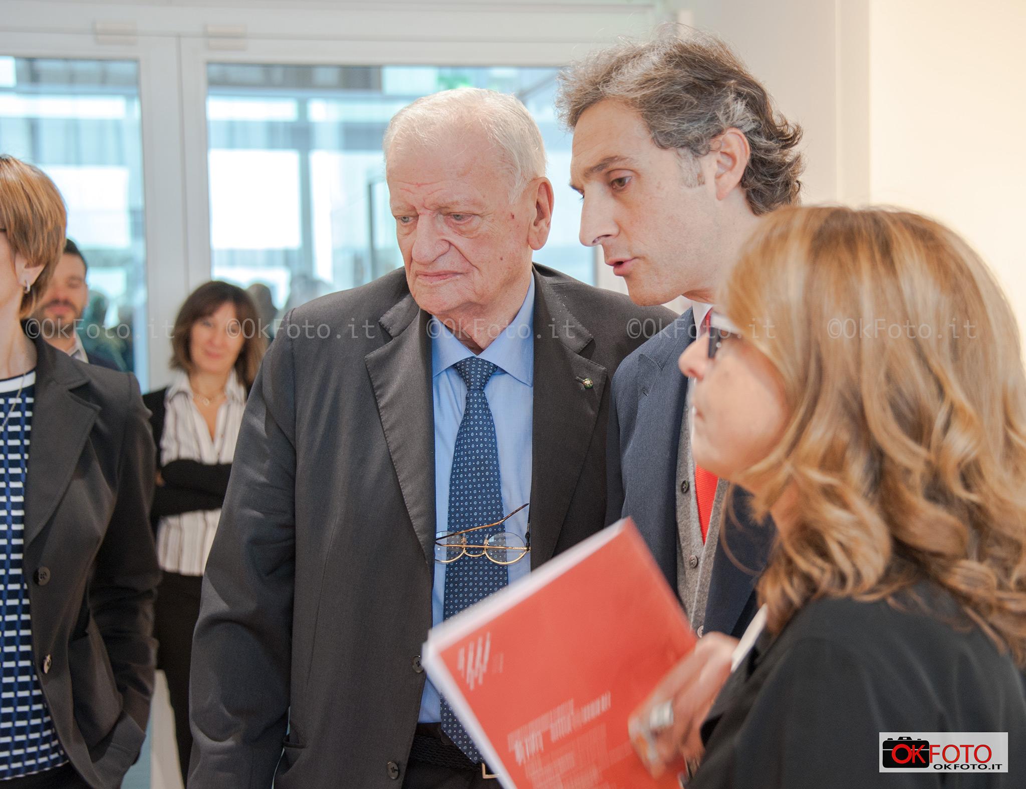 Enrico Salza e Michele Coppola alla inaugurazione di Punctum