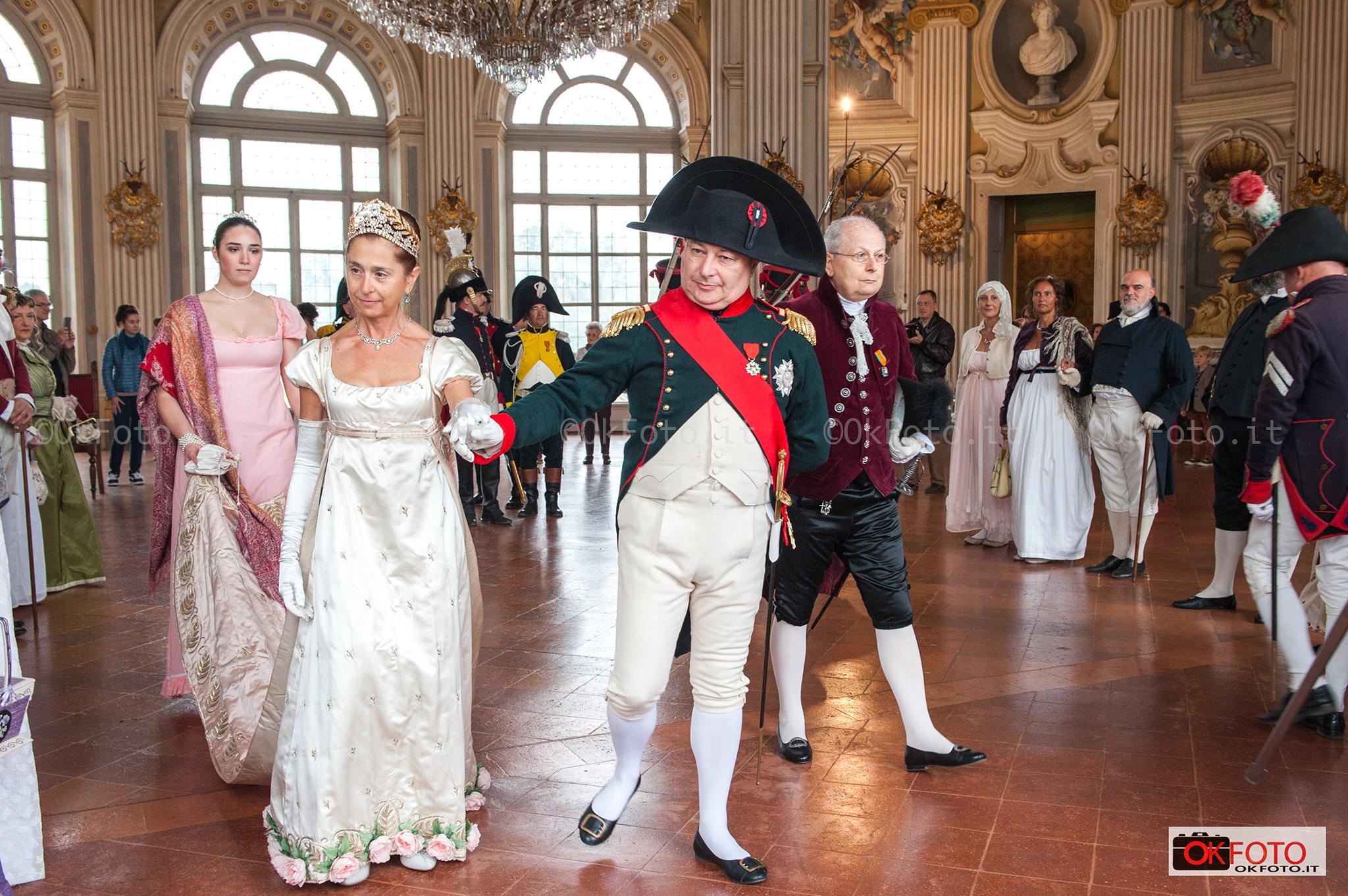 Napoleone e l'imperatrice dei Francesi nel salone di Stupinigi