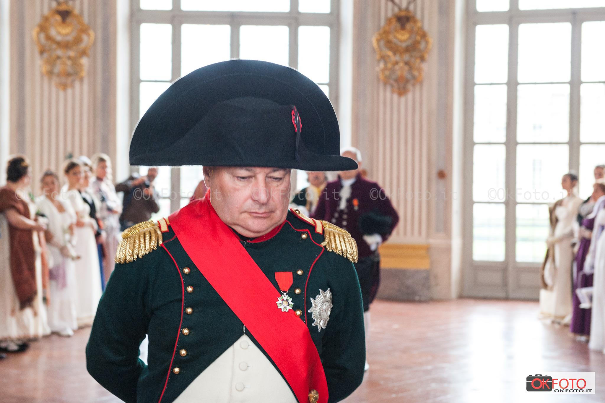 Napoleone nel salone da ballo di Stupinigi