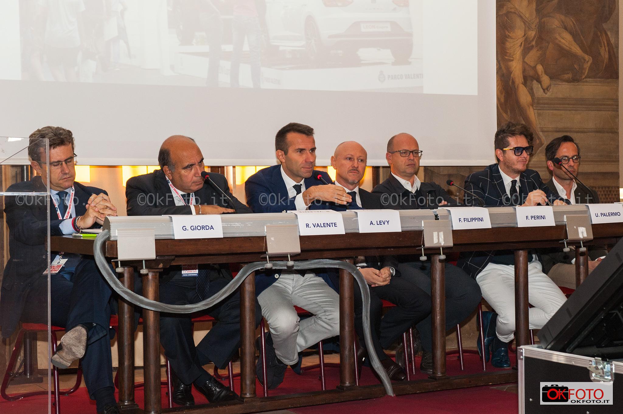 conferenza stampa di presentazione di Parco Valentino Salone dell'auto 2017