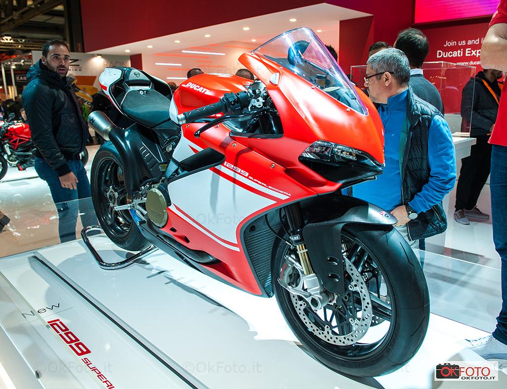 La Ducati 1299 Superleggera esposta a Eicma 2016